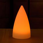 centre-de-table-lumineux-led-exocet-orange vendu sur www.deco-lumineuse.fr