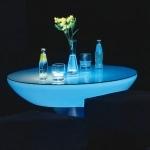 table lumineuse led  bleue vendue sur www.deco-lumineuse.fr