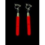 boucle-doreille-fluo-longue-rouge vendu sur www.deco-lumineuse.fr