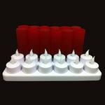 bougies led rouge vendues sur www.deco-lumineuse.fr