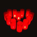 bougies led rouges vendu sur www.deco-lumineuse.fr