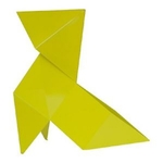 lampe a led design MARIUS jaune vendue sur www.deco-lumineuse.fr