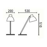 dimensions-lampe-de-bureau-selene-faro-www.deco-lumineuse.fr