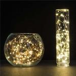 10-M-5-M-Fil-De-Cuivre-LED-Cha-ne-lumi-res-Batterie-Vacances-LED-Bande