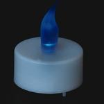 bougie-led-chauffe-plat bleue