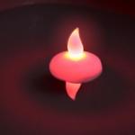 bougie-led-flottante-rouge