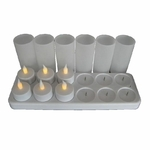 plateau-12-bougies-led-jaunes-rechargeables