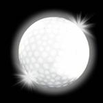 balle-de-golf-lumineuse blanche