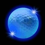 balle-de-golf-lumineuse bleue