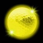 balle-de-golf-lumineuse jaune