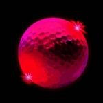 balle-de-golf-lumineuse rouge