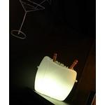 seau a champagne led design blanc marilyn