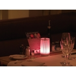 centre de table led design rose plissee glitter