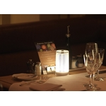 deco centre de table moderne led plissee glitter