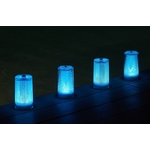 centre de table led moder bleue plissee glitter