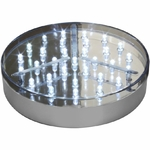 base-lumineuse-silver-led-blanches