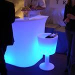 seau a champagne led design lumineux sur pied