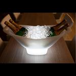 seau lumineux led design sans fil rechargeable vasque