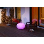 cube pouf lumineux led rvb exterieur bubble granite vendu sur deco-lumineuse.fr