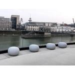 pouf lumineux led design rvb bubble granite vendu sur deco-lumineuse.fr
