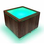 cube led sans fil design rvb ora walnut vendu sur deco-lumineuse.fr