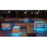 table basse lumineuse led sans fil exterieur beach vendu sur deco-lumineuse.fr