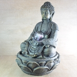 fontaine bouddha rvb interieur meditation vendue sur deco-lumineuse.fr