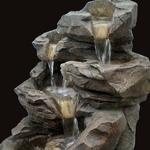 fontaine led exterieure roche grande niagara