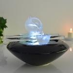 fontaine led interieur cristal tea time vendue sur deco-lumineuse.fr