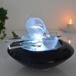 fontaine zen led interieur cristal tea time vendue sur deco-lumineuse.fr