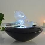 fontaine led zen interieur cristal tea time vendue sur deco-lumineuse.fr