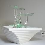 fontaine led interieur cristal line flower vendue sur deco-lumineuse.fr