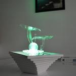 fontaine led interieur zen cristal line flower vendue sur deco-lumineuse.fr