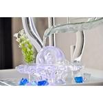 cristal line flower fontaine led interieur