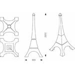tour eiffel lumineuse design