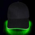casquette lumineuse led verte soirée fluo vendue sur deco-lumineuse.fr