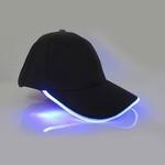 casquette lumineuse led fluo bleue vendue sur deco-lumineuse.fr