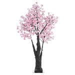 arbre led lumineux exterieur 150cm 384 led fleurs lumineuses blanc chaud