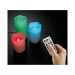 bougie led electrique imitation cire rvb piles telecommande vendu sur deco-lumineuse.fr