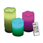 set 3 bougies led imitation cire rvb telecommande vendu sur deco-lumineuse