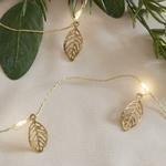 guirlande led 20 micro led feuilles dorées vendue sur deco-lumineuse.fr