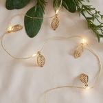 guirlande lumineuse led 20 micro led feuilles dorées vendue sur deco-lumineuse.fr