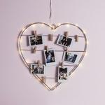 guirlande lumineuse led avec coeur accroche photos vendue sur deco-lumineuse.fr
