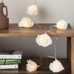 guirlande lumineuse led piles Roses Juliettes blanches vendues sur deco-lumineuse.fr
