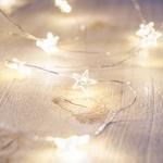 guirlande lumineuse 40 led blanc chaud etoiles vendue sur deco-lumineuse.fr