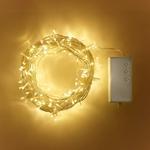 guirlande lumineuse led piles 200 led blanc chaud vendue sur deco-lumineuse.fr
