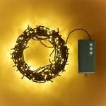 guirlande lumineuses led 200 led blanc chaud cable vert foncé vendue sur deco-lumineuse.fr