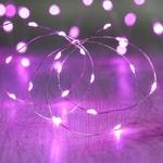 guirlande lumineuse led fil argent 20 micro led violette vendue sur deco-lumineuse.fr