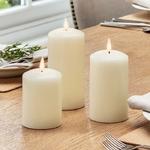 3 bougie a led cire piliers cire blanche vendues sur deco-lumineuse.fr