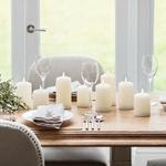 3 bougies a led electrique cire piliers cire blanche vendues sur deco-lumineuse.fr